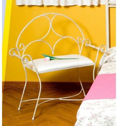banqueta de forja para dormitorio modelo roma