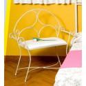 Panca in ferro battuto per camera da letto modelo Roma