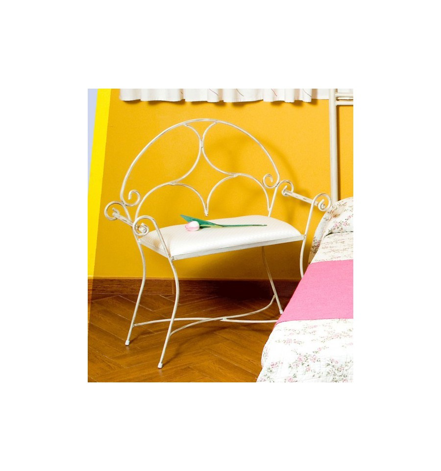 Bank aus Schmiedeeisen für Schlafzimmer Modell Roma