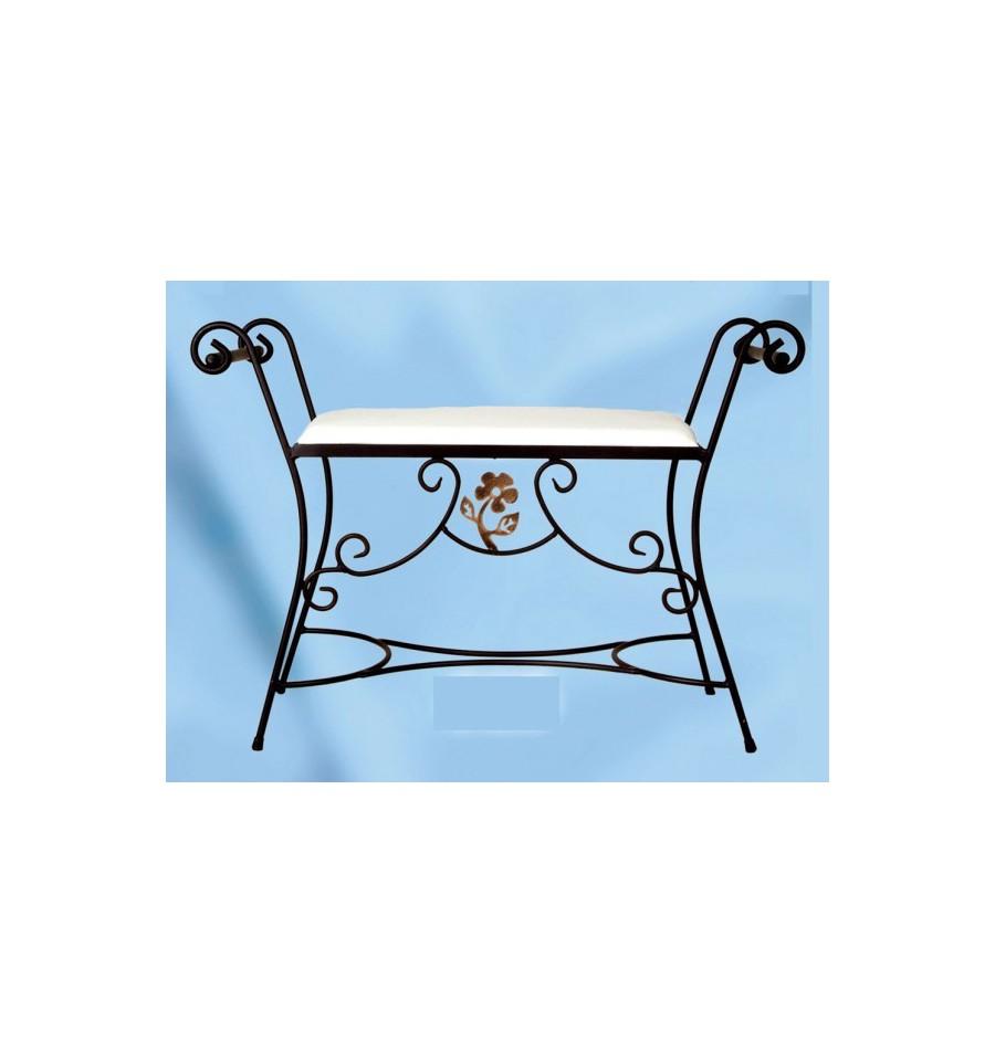 Banquetas de forja para dormitorio flor - Banquetas para dormitorio ...