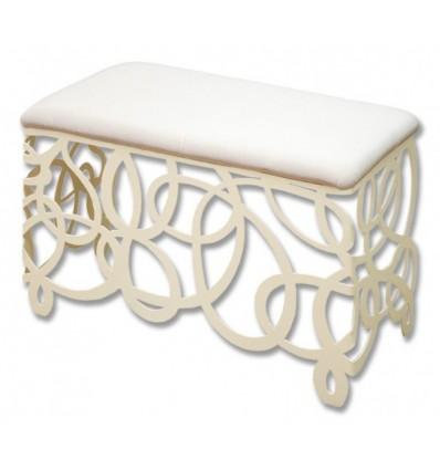 Laberinto moderno modello Panca da letto in ferro battuto