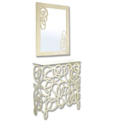 Consola de ferro forjado Enredo com espelho