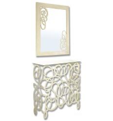Schmiedeeisen konsole Enredo mit Spiegel