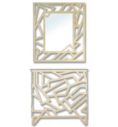 Schmiedeeisen konsole Elisa mit Spiegel