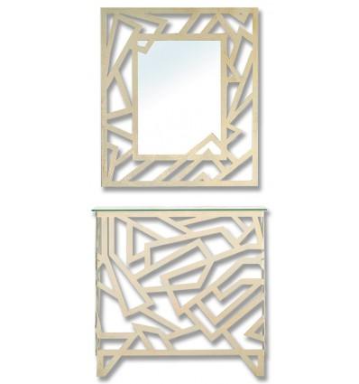consola de forja elisa con espejo a juego