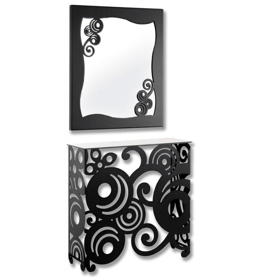 Consolle In Ferro Battuto Con Specchio.Consolle In Ferro Battuto Luz Con Specchio