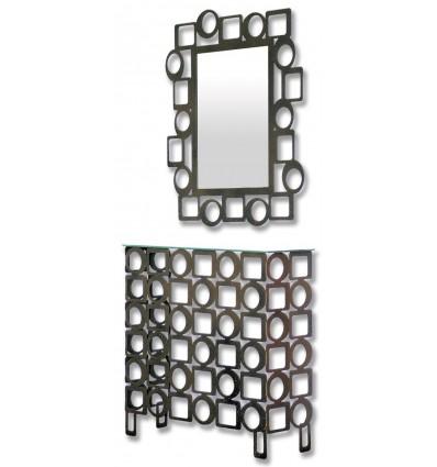 consola de forja pop con espejo a juego