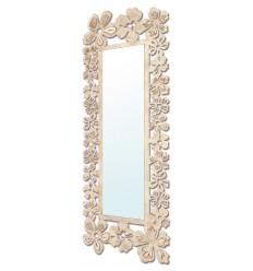 Espelho de vestir de ferro forjado modelo Flores