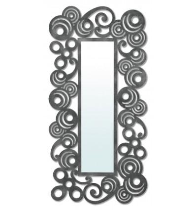 espejo vestidor de forja modelo mundo