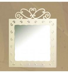 Specchio in ferro battuto Charlotte
