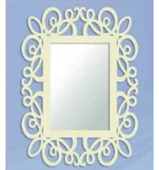 espejo de forja garabato