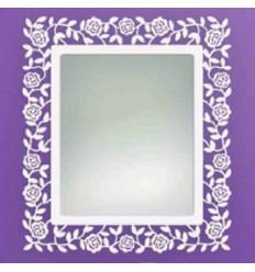 espejo de forja rosas