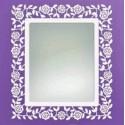 Spiegel aus Schmiedeeisen Rosas