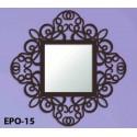 Spiegel aus Schmiedeeisen Mandala