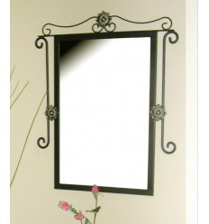 Specchio in ferro battuto Cleopatra