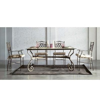 mesa de forja damasco