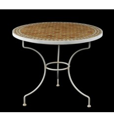 Pied de table en forge ronde Country
