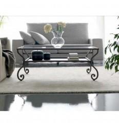 mesa de centro en forja damasco