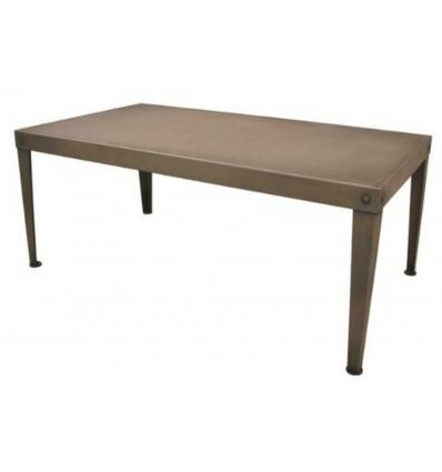 mesa de centro en forja low
