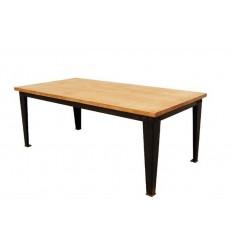 mesa de centro en forja taller