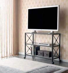 Tavolo di ferro forgiato per Televisore Cruceta