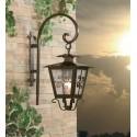 lanterna com braço de ferro Lara com ornamentos