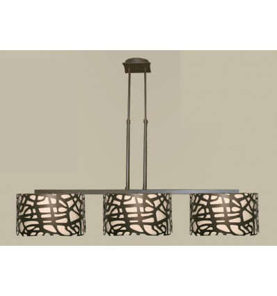 Lámpara de forja Celosía 3 luces