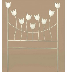 Tête de lit forgée modèle Tulipanes