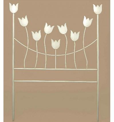 cabecero de forja tulipanes