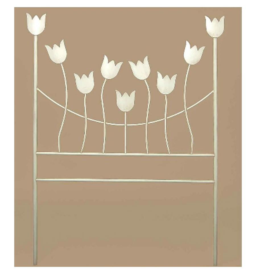 Cabecero de forja modelo tulipanes - Cabeceros de forja ...