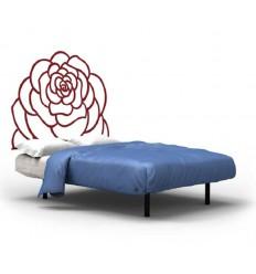 Tête de lit murale fer forgé Rosa