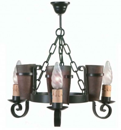 Lámpara rústica Eunice 3 luces