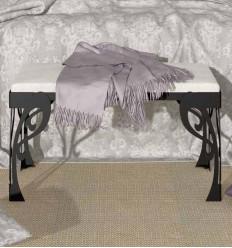 banqueta divan de forja epoca
