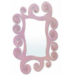Espelho moderno de ferro forjado Espiral