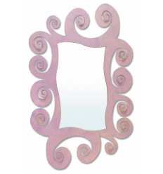 Miroir moderne en fer forgé Espiral