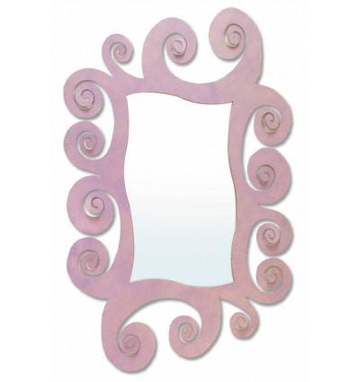 Espejo moderno de forja Espiral