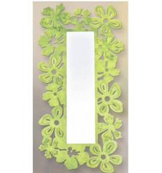 Specchio in ferro battuto modello Hojas