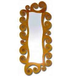 Spiegeln Sie Ankleidekabine Schmiedeeisen espiral