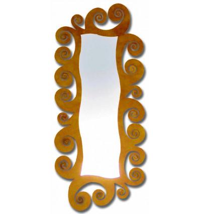 espejo vestidor de forja espiral