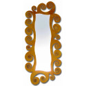 Espelho de vestir de ferro forjado espiral
