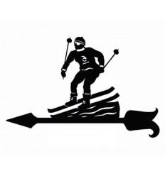 Veleta de viento esquiadores