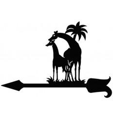 Veleta de viento Jirafas