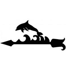 Girouette en fer forgé dauphin