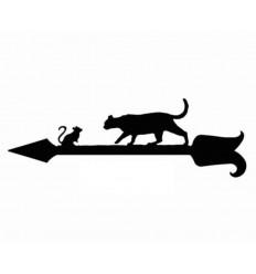 Wetterfahne Katze und Maus