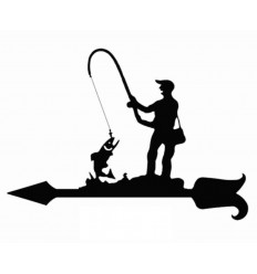 Weathervane Fisherman