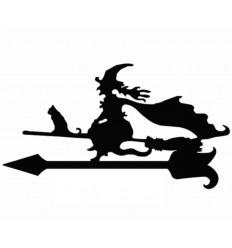 Wetterfahne Hexe mit Katze