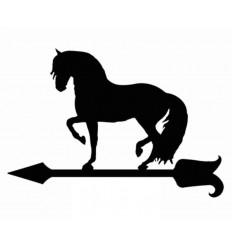Veleta de forja caballo al paso