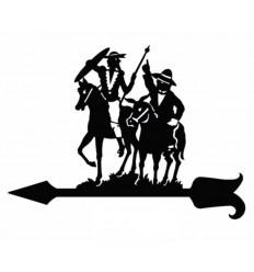 Windfahne Sancho y Quijote
