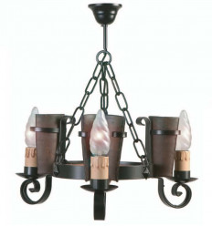 Lámpara rústica de forja Eunice I