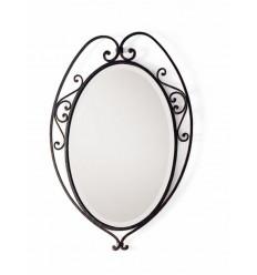 Specchio in ferro battuto Aurora